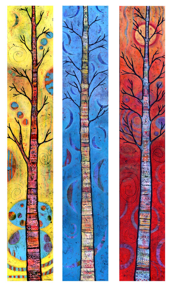 Whimsical Tree Paintings